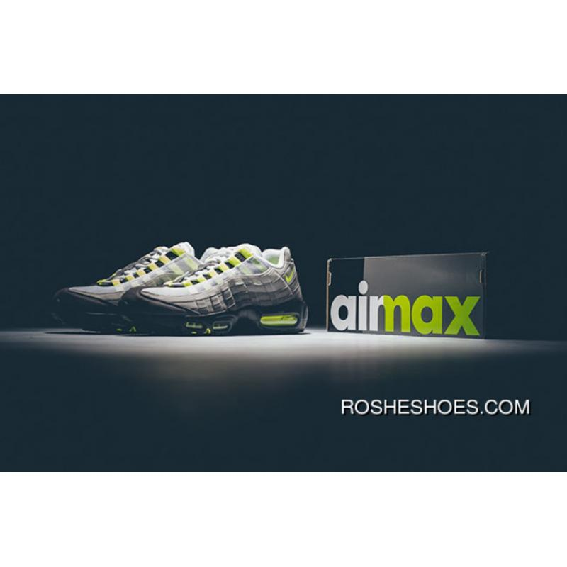 cozy fresh 09eff 3a3c8 Copuon Nike Air Max 95 OG  Neon  Black Volt-Medium Ash- ...