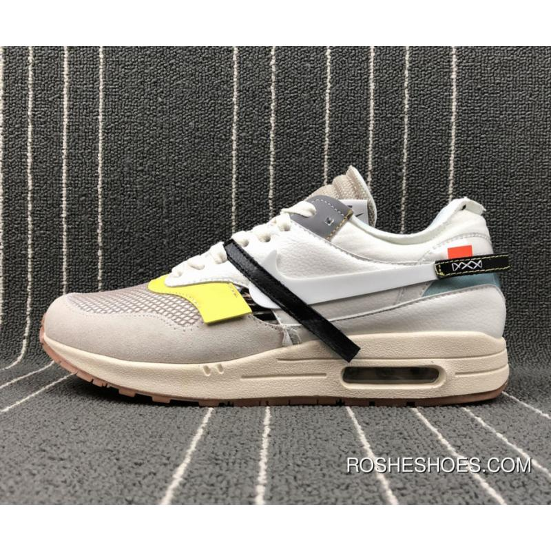 62d47397f24 Off-White X Nike Air Max 1 Custom White By Bespokeind New Year Deals ...