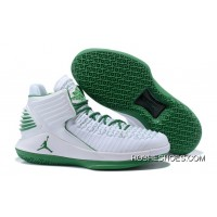 "best cheap a9a38 f92f8 2018 Air Jordan 32 ""Boston Celtics"" PE White Green Online"