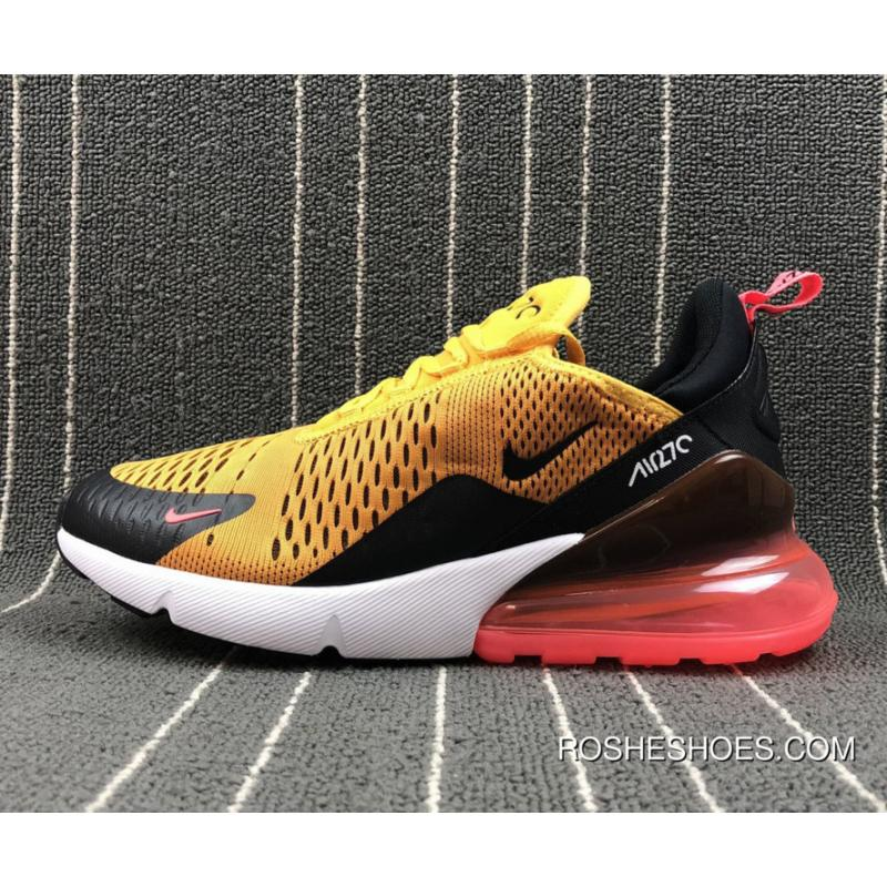Nike Air Max 270 Tiger BlackUniversity Gold Hot Punch White Copuon