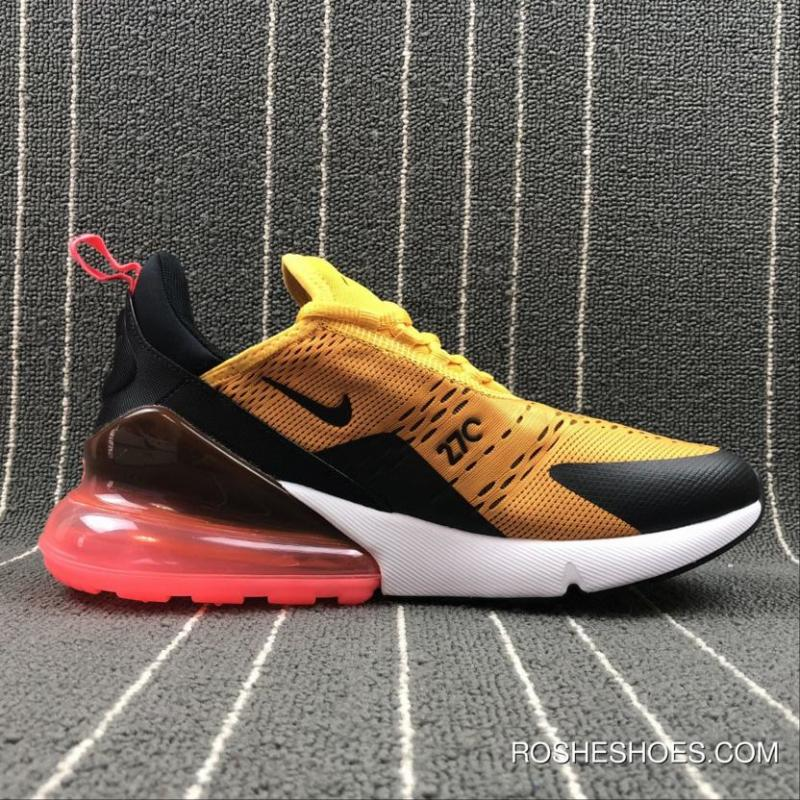 ... Nike Air Max 270 Tiger Black University Gold-Hot Punch-White Copuon ... f558fc3fd