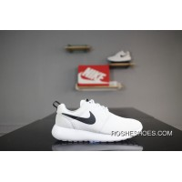 e36eaba0ab0 Nike Roshe Run One 844994-101 All White Black Hook Olympic London Super  Soft Foam