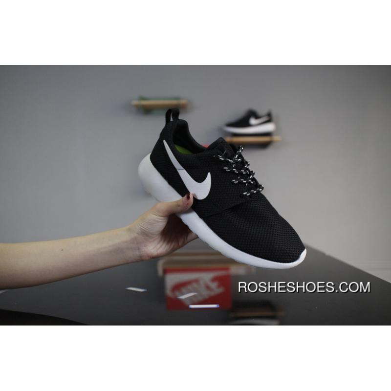 Nike Roshe Run One 511881 096 All Black Olympic London Super Soft Foam MD Outsole Mesh Shoe Pad Highest Quality The Most Hot Summer Sale Store Online