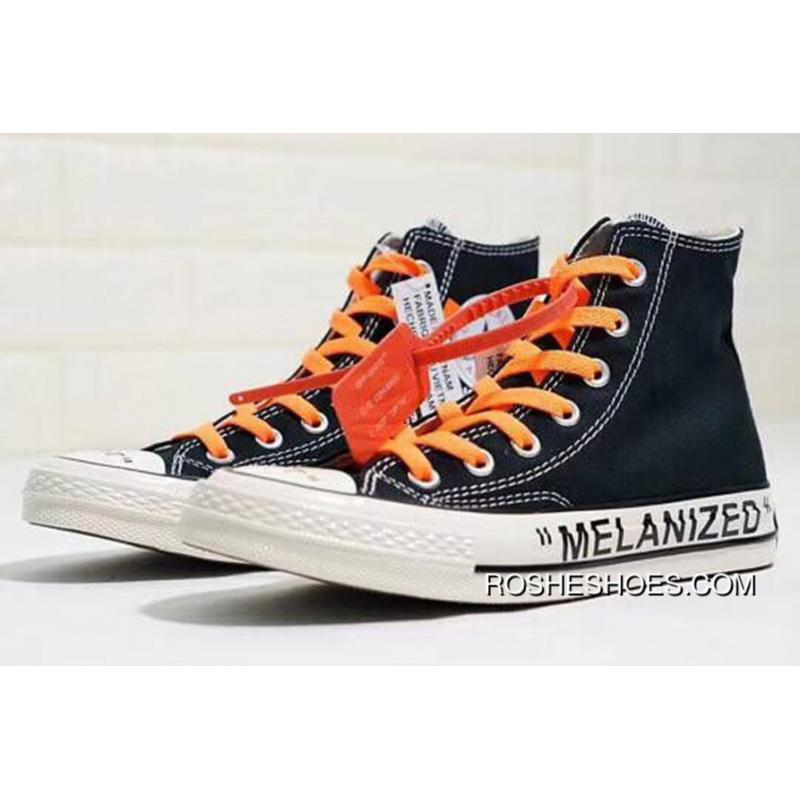 1092a60689b7 Virgil Abloh THE TEN Off-White X Converse GHOSTING Melanized Black Chucks  High Outlet ...