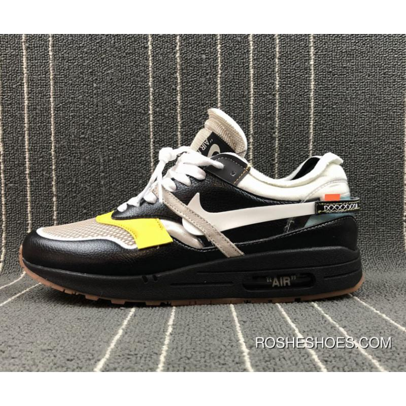 sale retailer aff0c dc207 Off-White X Nike Air Max 1 Custom Black By Bespokeind Discount ...