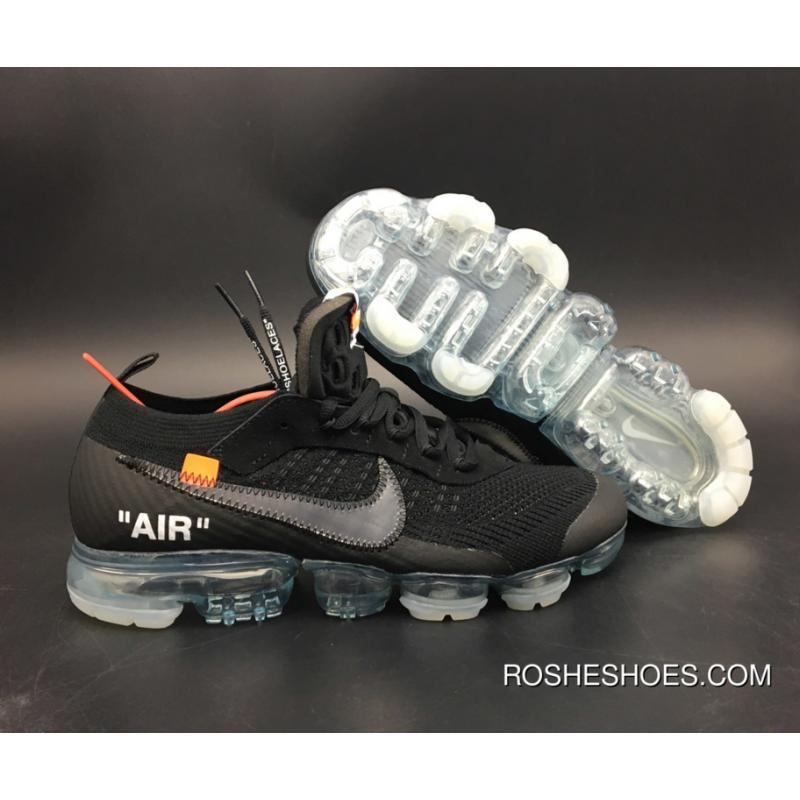 a65158f2d187 New Style Off-White X Nike Air Vapormax Black Total Crimson-Clear Aa3831 ...