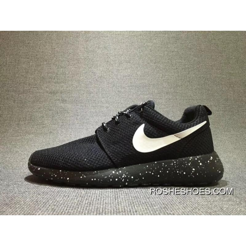77242b58a453 Nike Olympic London Roshe Run Black White Ink Spot Women Shoes And Men Shoes  511882- ...